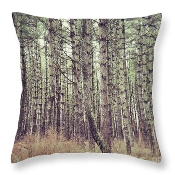 Throw Pillow featuring the photograph The Preaching Of The Pines by Kerri Farley