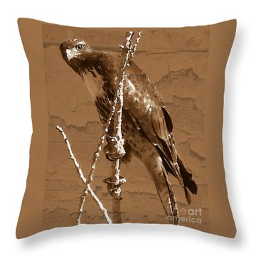 The Predator Digital Painting Throw Pillow