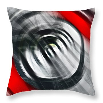 The Present Throw Pillow by Gwyn Newcombe