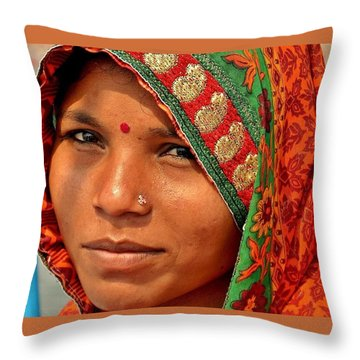 The Pride Of Indian Womenhood Throw Pillow