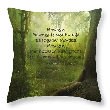 The Princess Bride - Mawage Throw Pillow
