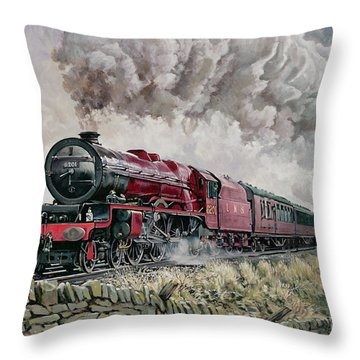 The Princess Elizabeth Storms North In All Weathers Throw Pillow by David Nolan