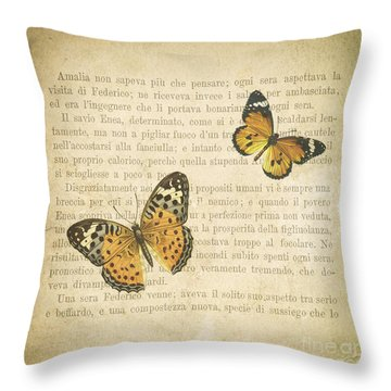 The Printed Page 8 Throw Pillow by Jan Bickerton