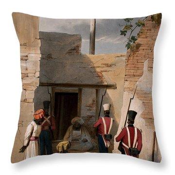 The Prison Of Hadjee Khan Kakus - Throw Pillow
