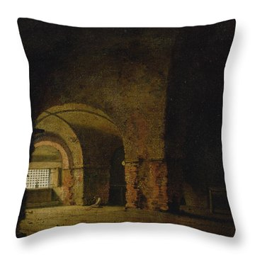 The Prisoner, C.1787-90 Oil On Canvas Throw Pillow by Joseph Wright of Derby