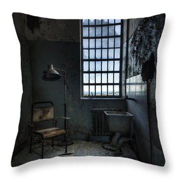 The Private Room - Abandoned Asylum Throw Pillow