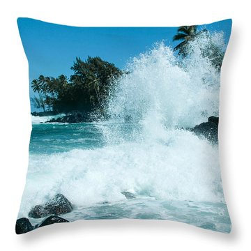 The Promise From The Lotosgardens Beyond The Sunset  Throw Pillow by Sharon Mau