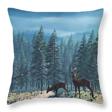 The Protector Throw Pillow by Ken Morris