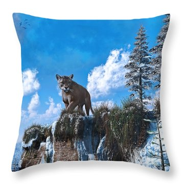 The Prowler Throw Pillow by Ken Morris
