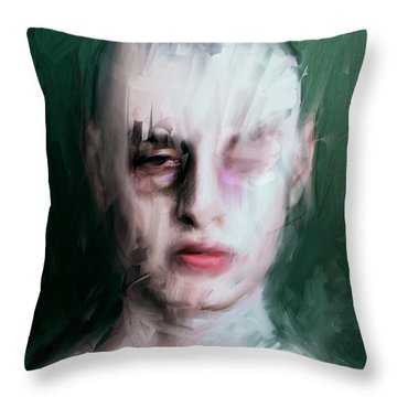 The Pugilist Throw Pillow by H James Hoff