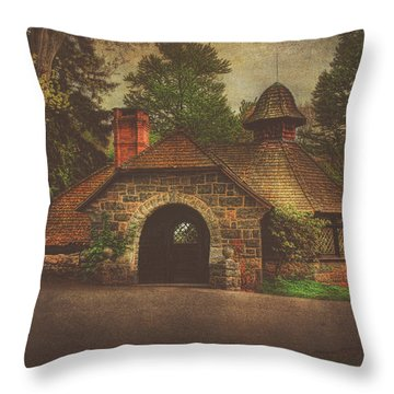The Pump House Throw Pillow