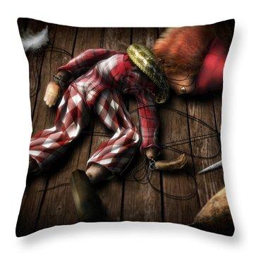 The Puppet... Throw Pillow