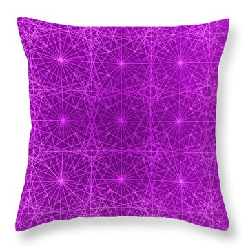 Throw Pillow featuring the drawing The Quantum Realm II by Jason Padgett