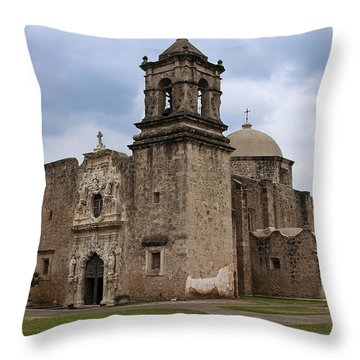 The Queen Of Missions Throw Pillow by Andy Crawford