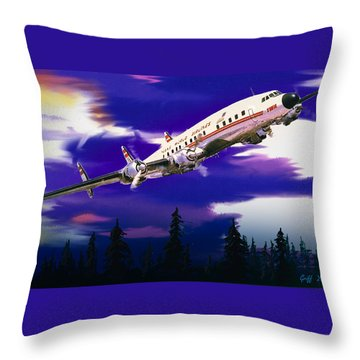 The Queen Of The Fleet Leaving Seattle Throw Pillow
