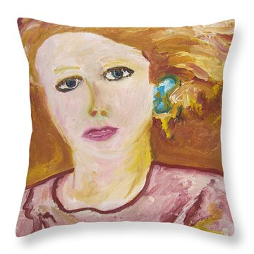 The Queen Throw Pillow