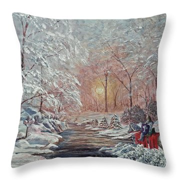 The Quest Begins Throw Pillow