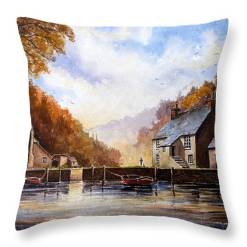 The Quiet Life Pont Cornwall Throw Pillow