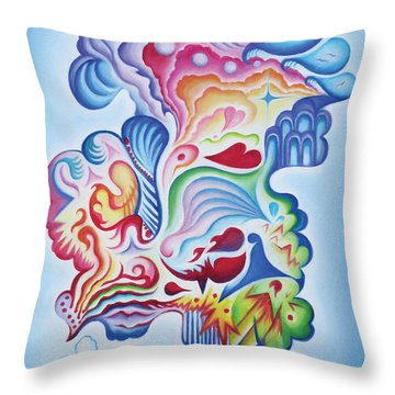 The Quiet One Throw Pillow by Tiffany Davis-Rustam