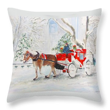The Quiet Ride Throw Pillow by Beth Saffer