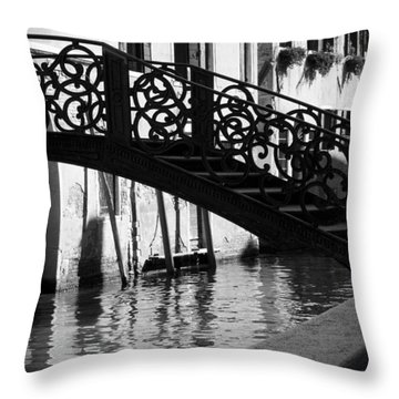 The Quiet - Venice Throw Pillow by Lisa Parrish