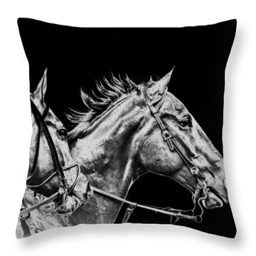 The Racers Throw Pillow by Camille Lopez