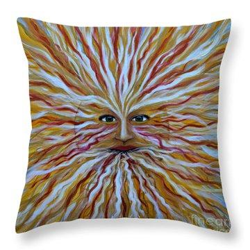 The Radiant Sun Throw Pillow