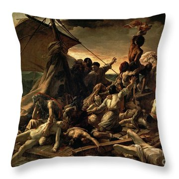 The Raft Of The Medusa Throw Pillow