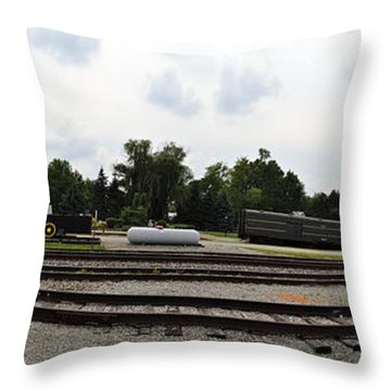 Throw Pillow featuring the photograph The Railroad From The Series View Of An Old Railroad by Verana Stark