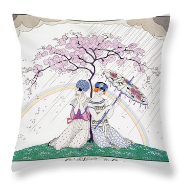 The Rainbow Throw Pillow by Georges Barbier