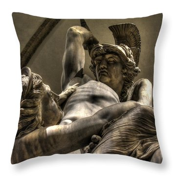 The Rape Of Polyxena Throw Pillow