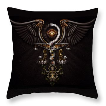 The Rapture Of Incarnation  Throw Pillow by Fred Andrews IV