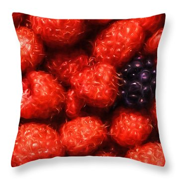 The Raspberries Throw Pillow