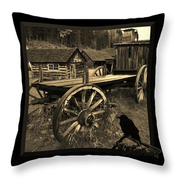 The Raven Flies Straight Throw Pillow by Barbara St Jean