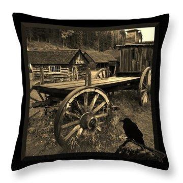 The Raven Flies Straight Throw Pillow