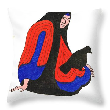 The Raven From Artist Proof 1 Throw Pillow