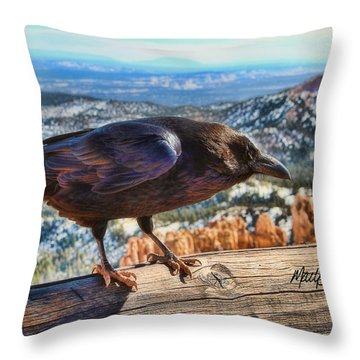 The Raven Throw Pillow by Marti Green