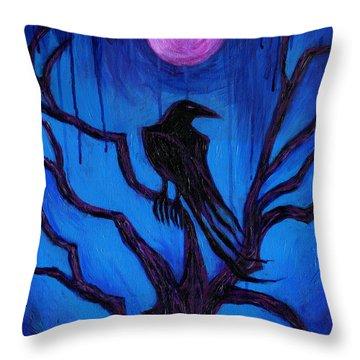 The Raven Nevermore Throw Pillow