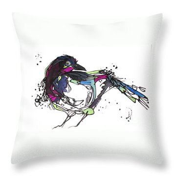 Throw Pillow featuring the painting The Ravishing One by Nicole Gaitan