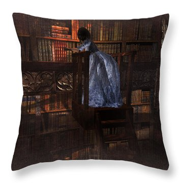 The Reader 07013101 - By Kylie Sabra Throw Pillow by Kylie Sabra