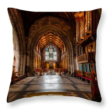 The Reading Room Throw Pillow