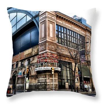 The Reading Terminal Market Throw Pillow