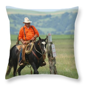 The Real Cowboy Throw Pillow