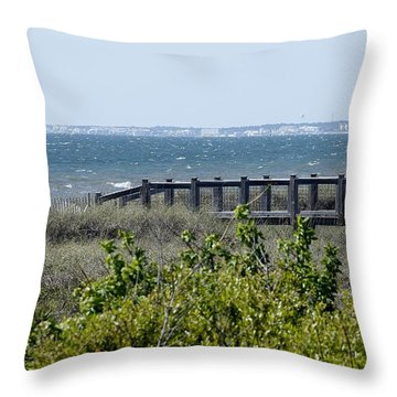 The Real Gulf Coast Throw Pillow by Debra Forand