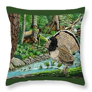The Real Thunder Bird  Throw Pillow