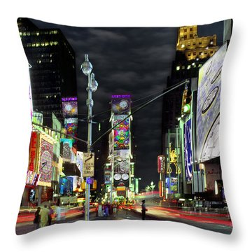 The Real Time Square Throw Pillow by Mike McGlothlen