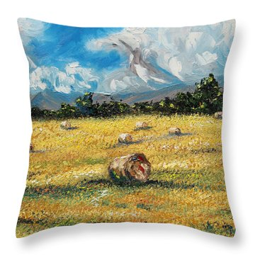 The Reaping Throw Pillow by Meaghan Troup