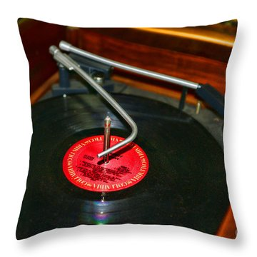 The Record Player Throw Pillow by Paul Ward