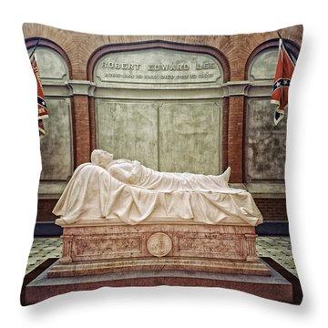 The Recumbent Robert E. Lee Throw Pillow