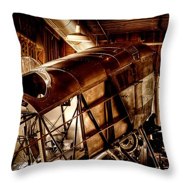 The Red Barn Of The Boeing Company II Throw Pillow